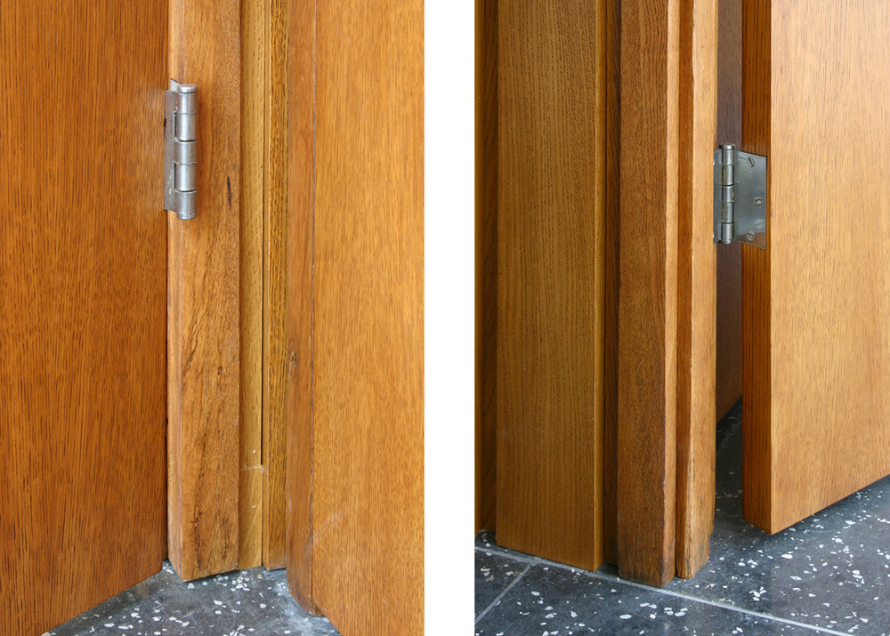 Details of door frames after restoration