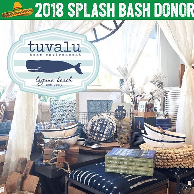 Tuvalu is the type of place our homes look like in our minds! ⚓️ Everything in the store is covetable and honestly just thinking about Tuvalu makes us want to redecorate. 🏠 That's why we're so grateful for this donation from @tuvaluhome! 🏝 You'll be able to take home the cutest basket of Tuvalu goodness including beachy notecards, an appetizer recipe book, wine glasses, dish towels, and a serving tray! ☀️ Everything is adorable and so nautical! The perfect basket to kick off summer! 💗 Thank you Tuvalu, for supporting Splash once again! We love you!