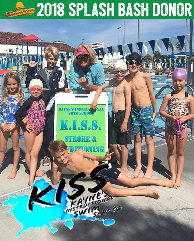 If you've ever signed up for a swim class with K.I.S.S., you know Kayne and her staff rule the pool! 👑 Kayne's Instructional Swim School gets major results! 🏊♂️ Turn your polywog into a mini Michael Phelps this summer (June 11-August 17 with the exception of July 4th week) by bidding on the following: • 1 week Private Lessons • 1 week Intro to Water Polo • 1 week Stroke and Conditioning Class Kayne has devoted her life to creating incredible swimmers and it's clear her passion for swim runs deep! 💕 She's been teaching swimmers for 45 years... 30 of which have been right here in San Clemente! 💥  Thank you for donating to our big night, Kayne, Candyce, and the entire @sc.kiss team! See you on the pool deck! This rules!
