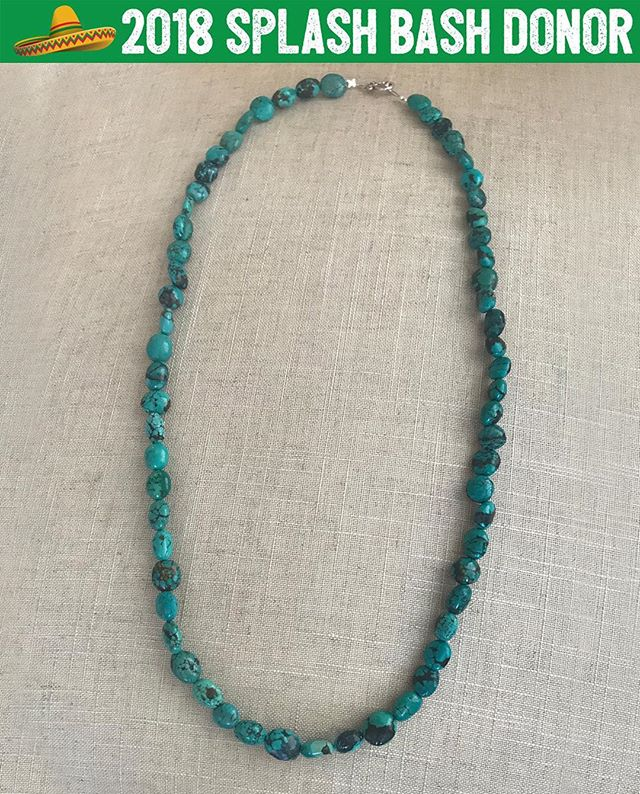 We're loving this gorgeous vintage turquoise necklace from @dallasbellantonio! 📿So excited to see who's neck this beautiful piece will go home on! 💜 Thanks to Dallas for always supporting Concordia! 🙏🏻 We love you and are thankful for this stunning donation!