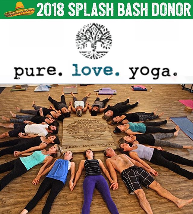 The name says it all! pure. love. yoga. 💧💜🧘🏽♀️. @pureloveyogasc is donating one month of unlimited yoga to The Splash Bash and we're ready to savasana all over this donation! 🕉 The gifted teachers at this studio pour their energy and love into each class! Bid on this fabulous package at the Bash and give yourself the gift of yoga! Thank you so much pure. love. yoga. for this generous donation!