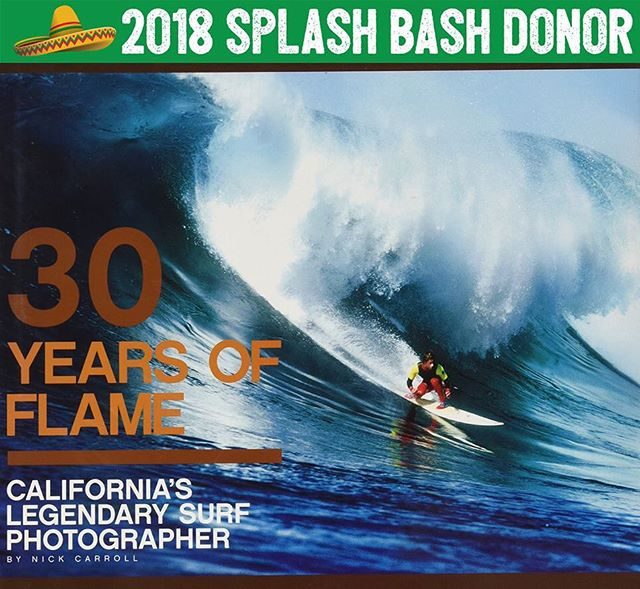 """Learn about a surf photography legend when you bid on this rad donation from @alexhota and @bobosbonanza. 🏄🏼 """"30 Year of Flame: California's Legendary Surf Photographer"""" is a limited print book highlighting Flame's career and would look stunning on your coffee table! 🌊 So grateful! Thanks Bowen and Alex! Rad!"""
