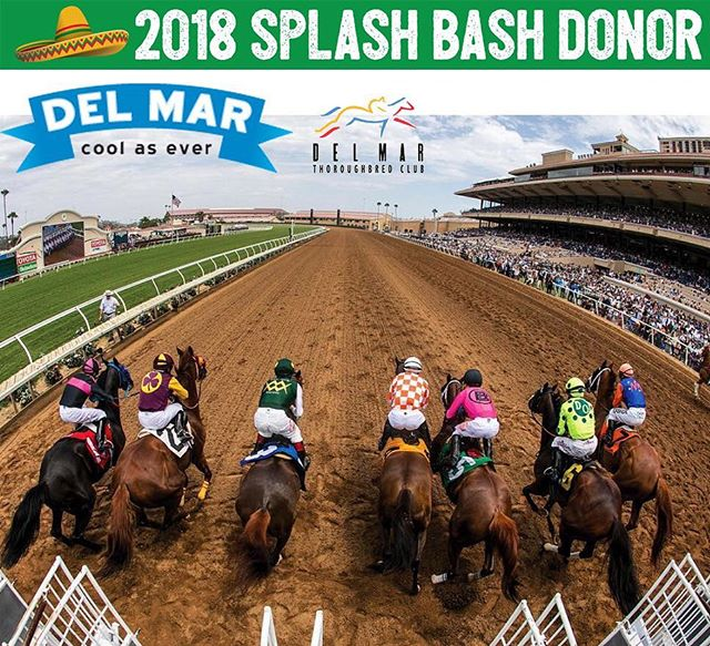 And they're off! 🐎 Make this summer extra special where the surf meets the turf at the Del Mar Racetracks! 🏇🏽 When bidding on the Lux Bus during the live auction, the winner also receives 4 clubhouse season admission passes to the Del Mar Thoroughbred Club for Summer 2018! So cool @delmarracing! 🏆 If that doesn't make you want to wear a big hat and order a mint julep, we don't know what will! 🎩 🍹 So pick your horses and raise your paddle at the Splash Bash!!! 🎉Thank you to Matt and @andebrown for this amazing hook up! So excited about it!