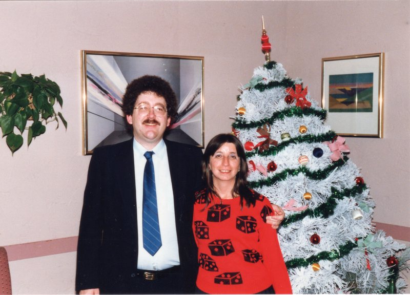 Lance and Karen at the 1986 AIS Christmas party