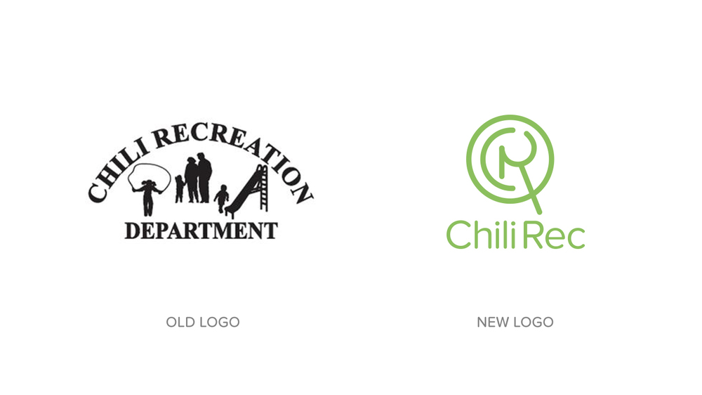 The client came to me with their logo, featured on the left. The new mark, on the right, takes inspiration from mazes and magnifying glasses—things often associated with exploration and discovery. I wanted to highlight the rich learning opportunity that Chili Rec presents through the classes, camps, and local events they offer; they really make sure that the community has a chance to explore and create in a fun and exciting way, no matter what age.