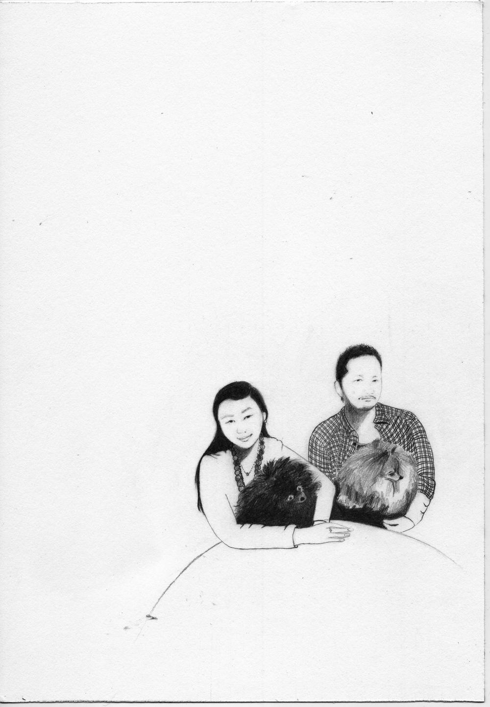 4. Juliana & Chadwick 2009. Graphite on paper. 7%22 x10%22jpg 2.jpg