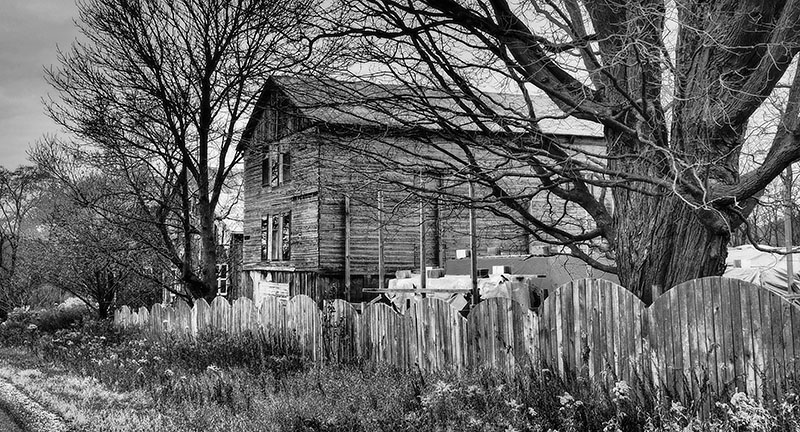 New Dundee Ontario landscape black and white photography Susan Arness Barns and Fences