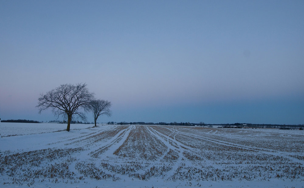 good night world - waterloo county in december