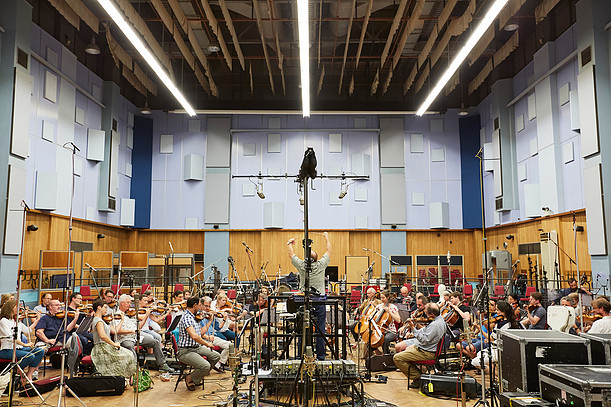The London Symphony Orchestra recording for Geoffrey's new album at Abbey Road Studios.
