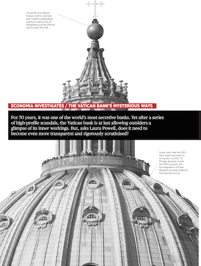 Vatican Bank  The world's most secretive bank  Economia