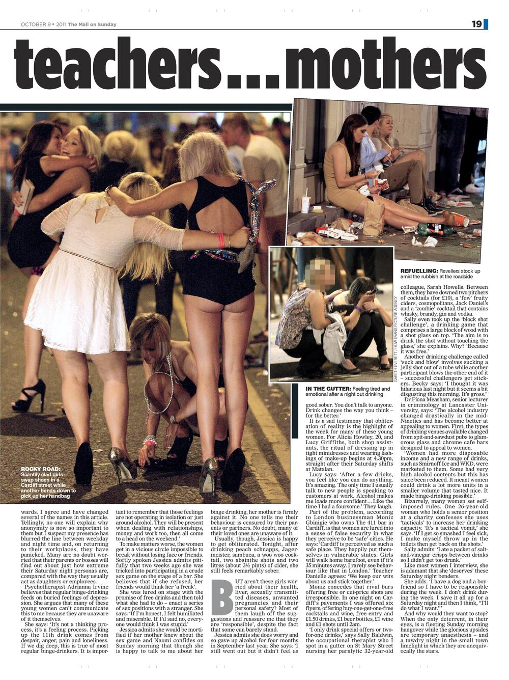 Boozy Britain  Binge drinking culture in UK  Mail on Sunday