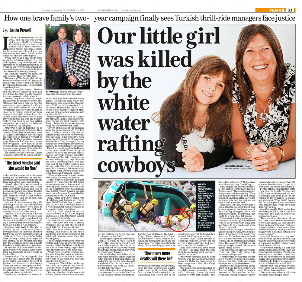 Rafting tragedy  The white water rafting cowboys  Mail on Sunday