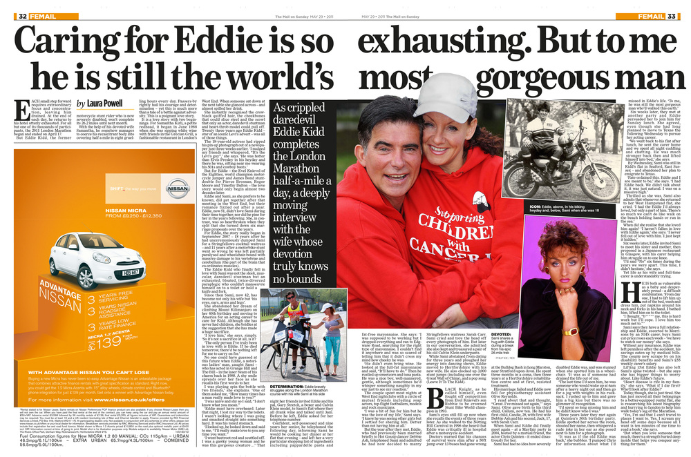 Eddie Kidd  Life and love after the accident  Mail on Sunday