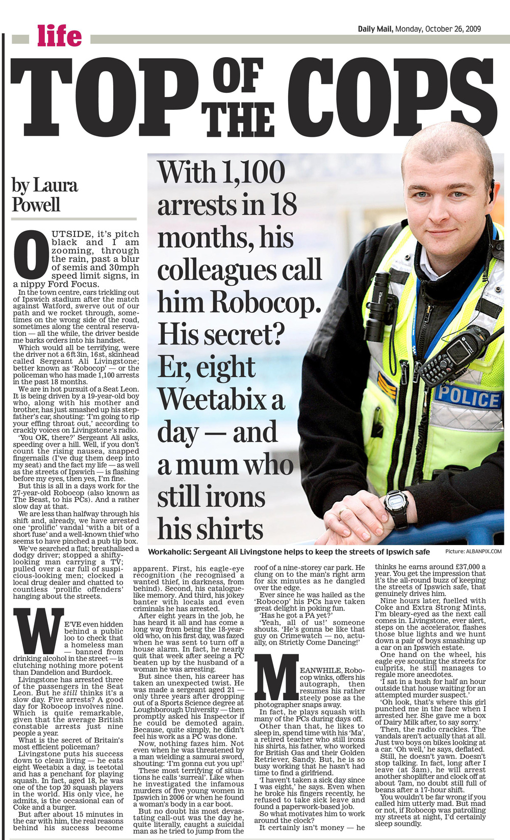 On the beat with robocop   Daily Mail