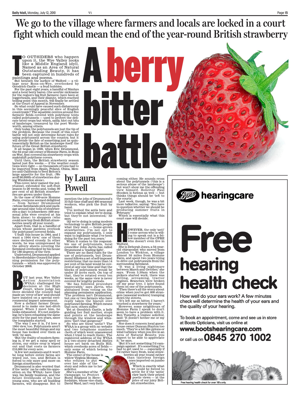 A berry bitter battle: Strawberry wars   Daily Mail