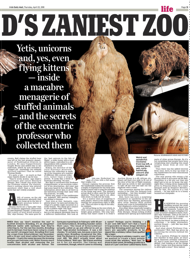 Inside the world's zaniest zoo   Daily Mail