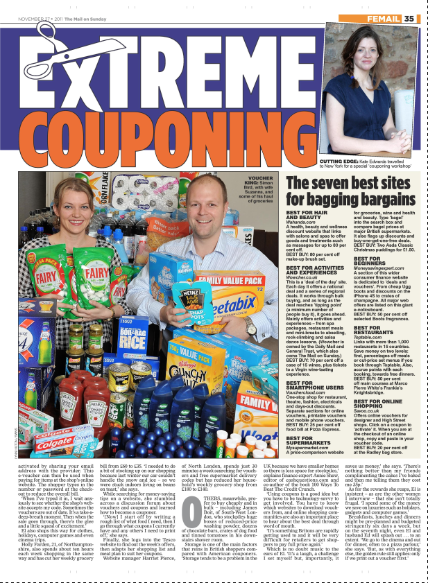 Meet the extreme couponers   Mail on Sunday