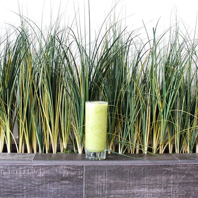 Who is a lover of the REFRESHER?🌱 Filled with nothing but goodness - Cucumber, Pineapple, Banana, Cold-pressed pineapple juice, Cold-pressed ginger juice and Lime juice! #KrispFreshLiving  #HappyFriday #Healthy #NewportBeach #Organic #Raw #Smoothies #Friday #Greenmachine #Refresher