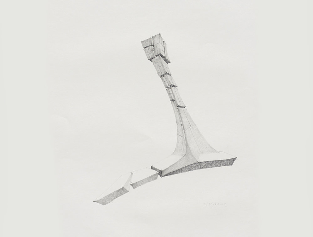 Untitled  , 2004. Graphite on paper, 24 x 18 in.  Detail