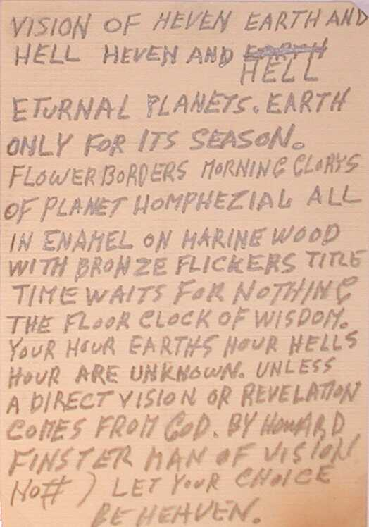 40) Howard Finster, Sermon Card, ca 1978 - 1982.JPG