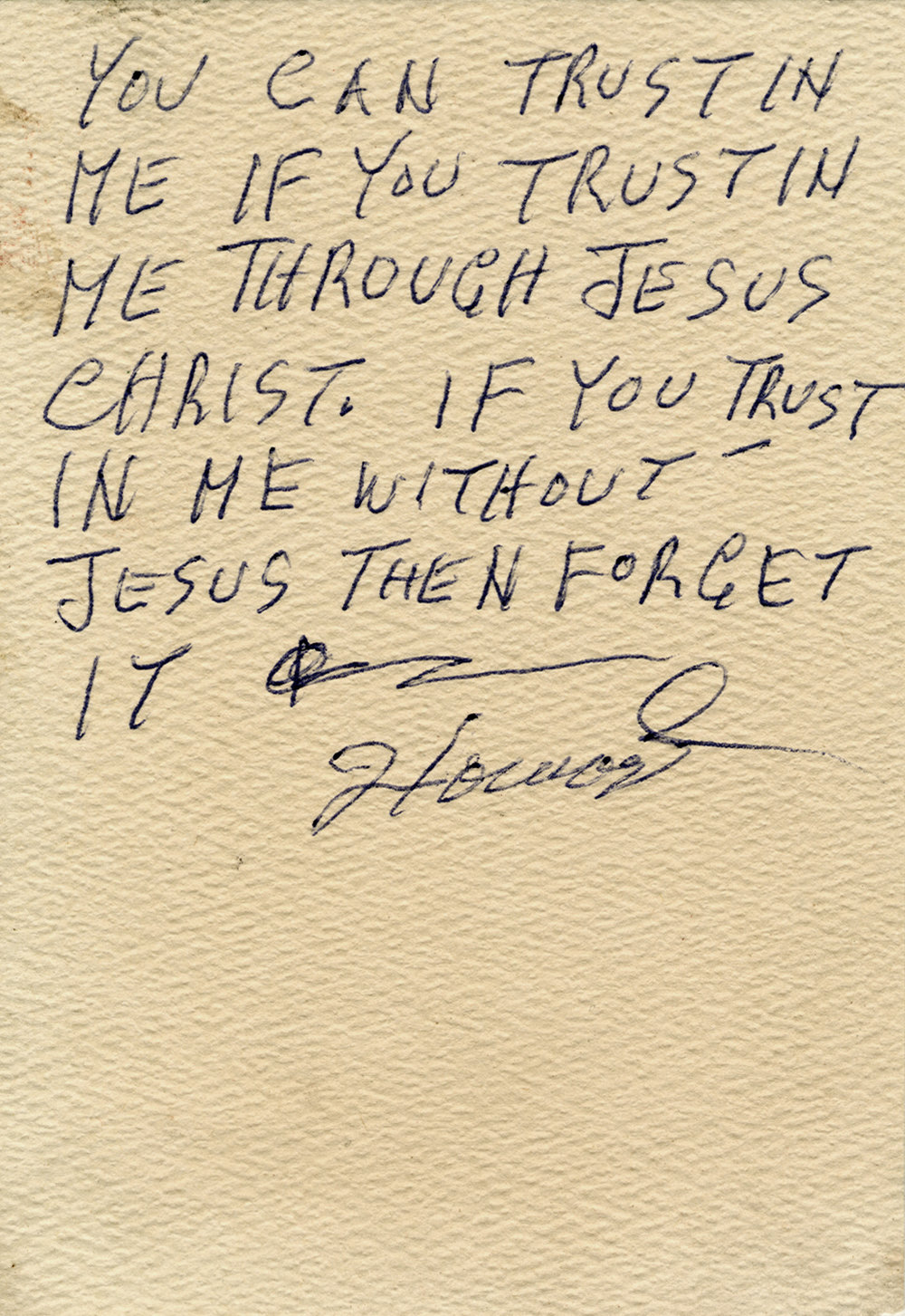 8) Howard Finster, Sermon Card, ca 1978 - 1982.JPG