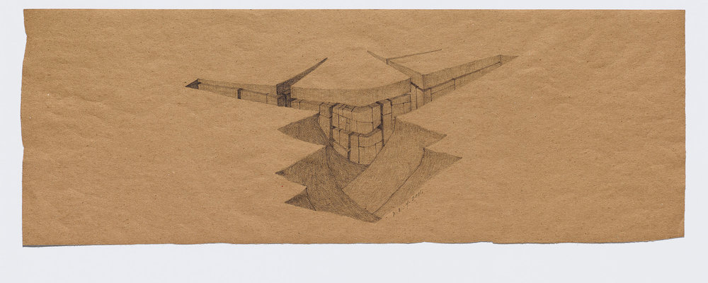 Willie Young, Untitled, 2001. Graphite on Paper, 8.75 x 24.5 in. Price on Request Reference 1916
