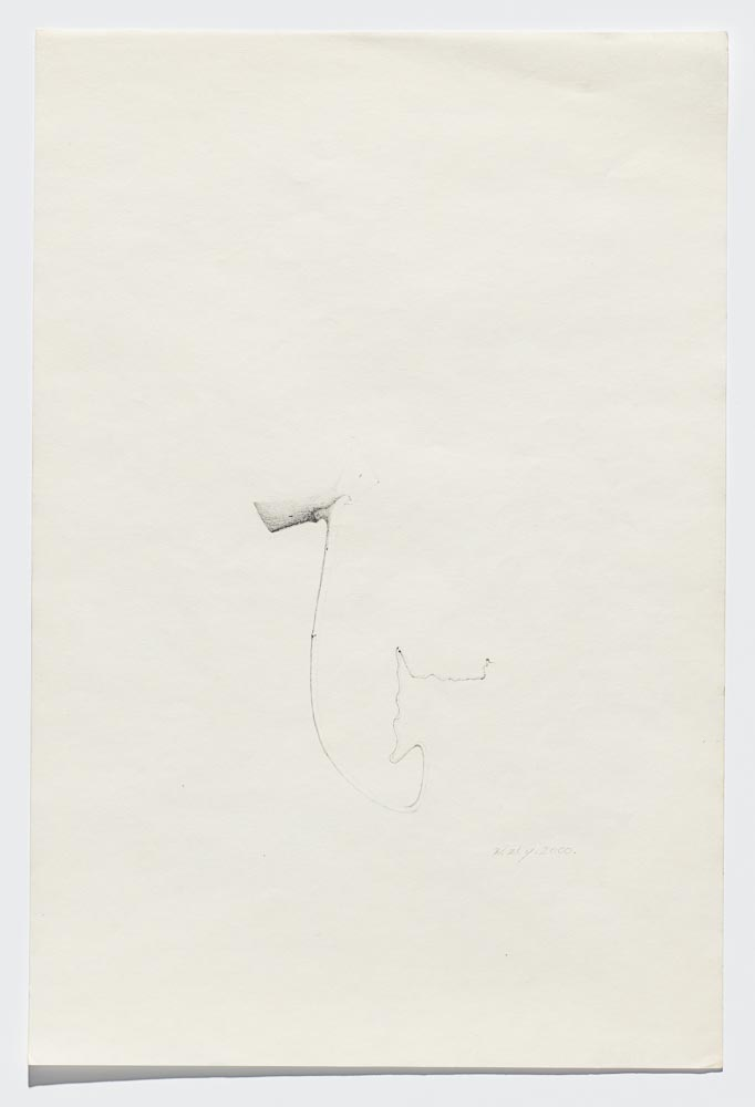 Willie Young, Untitled, 2000. Graphite on Paper, 18 x 12 in. Price on Request Reference 0125