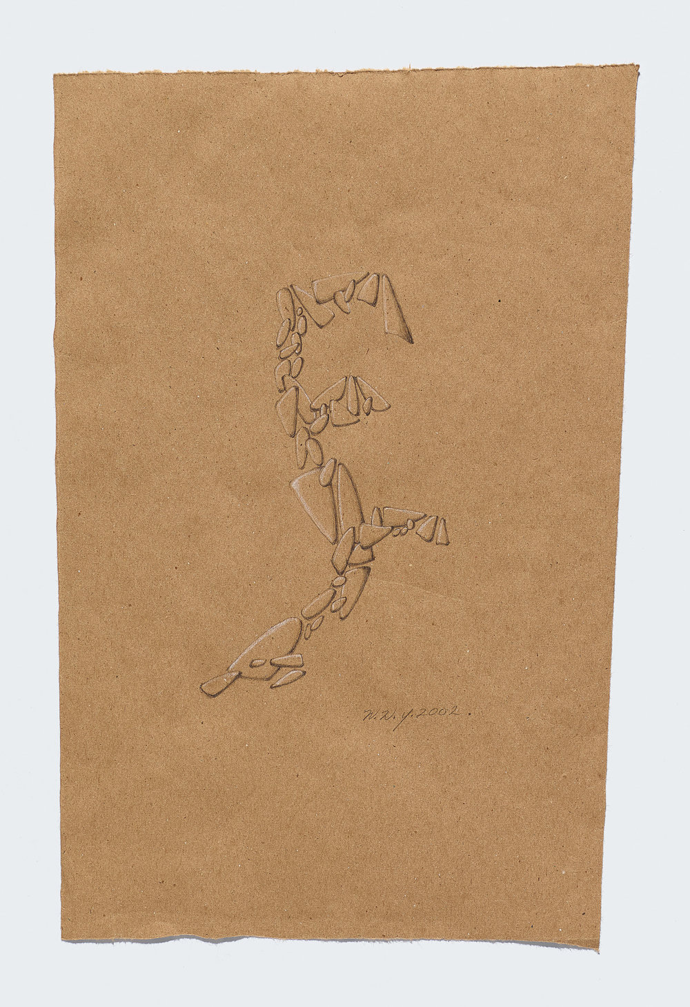 Willie Young, Untitled, 2002. Graphite on Paper, 13.5 x 8.5 in. Price on Request Reference 1899