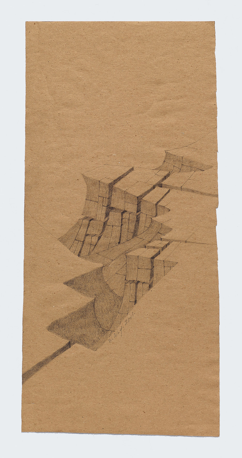 Willie Young Untitled, 2001. Graphite on Paper, 17.25 x 8.25 in. Price on Request Reference 1911