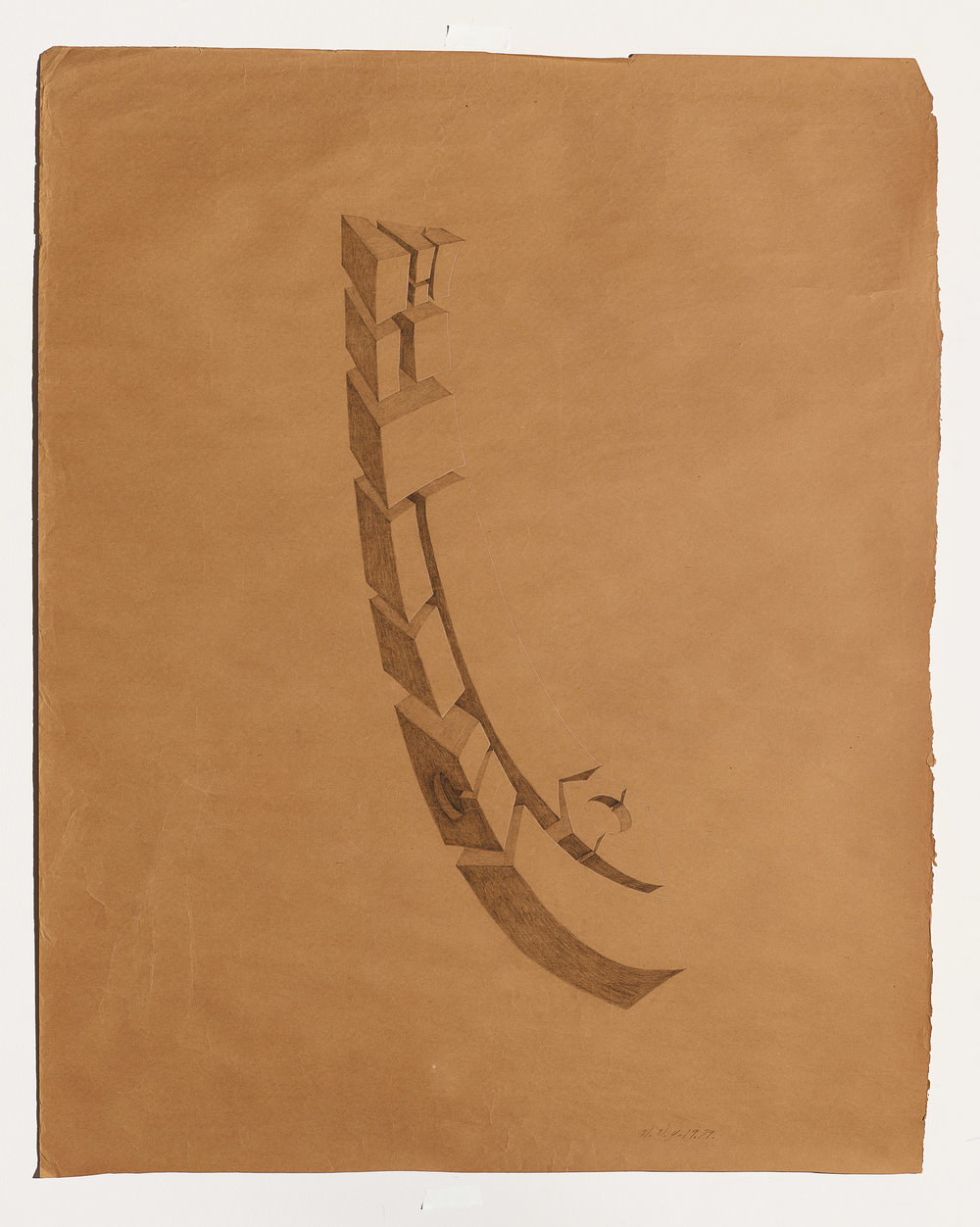 Willie Young, Untitled, 1979. Graphite on Paper, 40 x 50 in. Price on Request Reference 0664