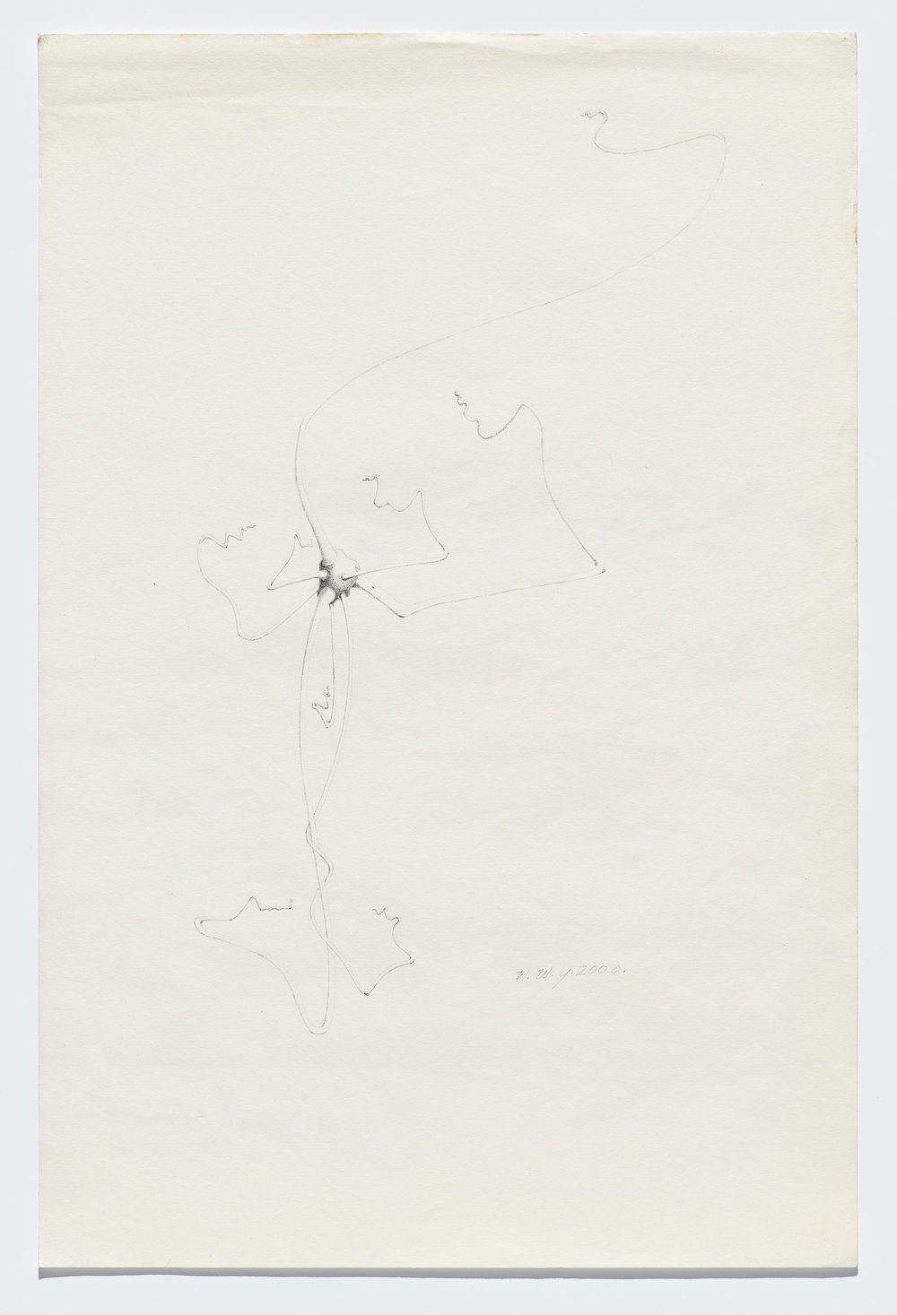 Willie Young, Untitled, 2000. Graphite on Paper, 18 x 12 in. Price on Request Reference 0198