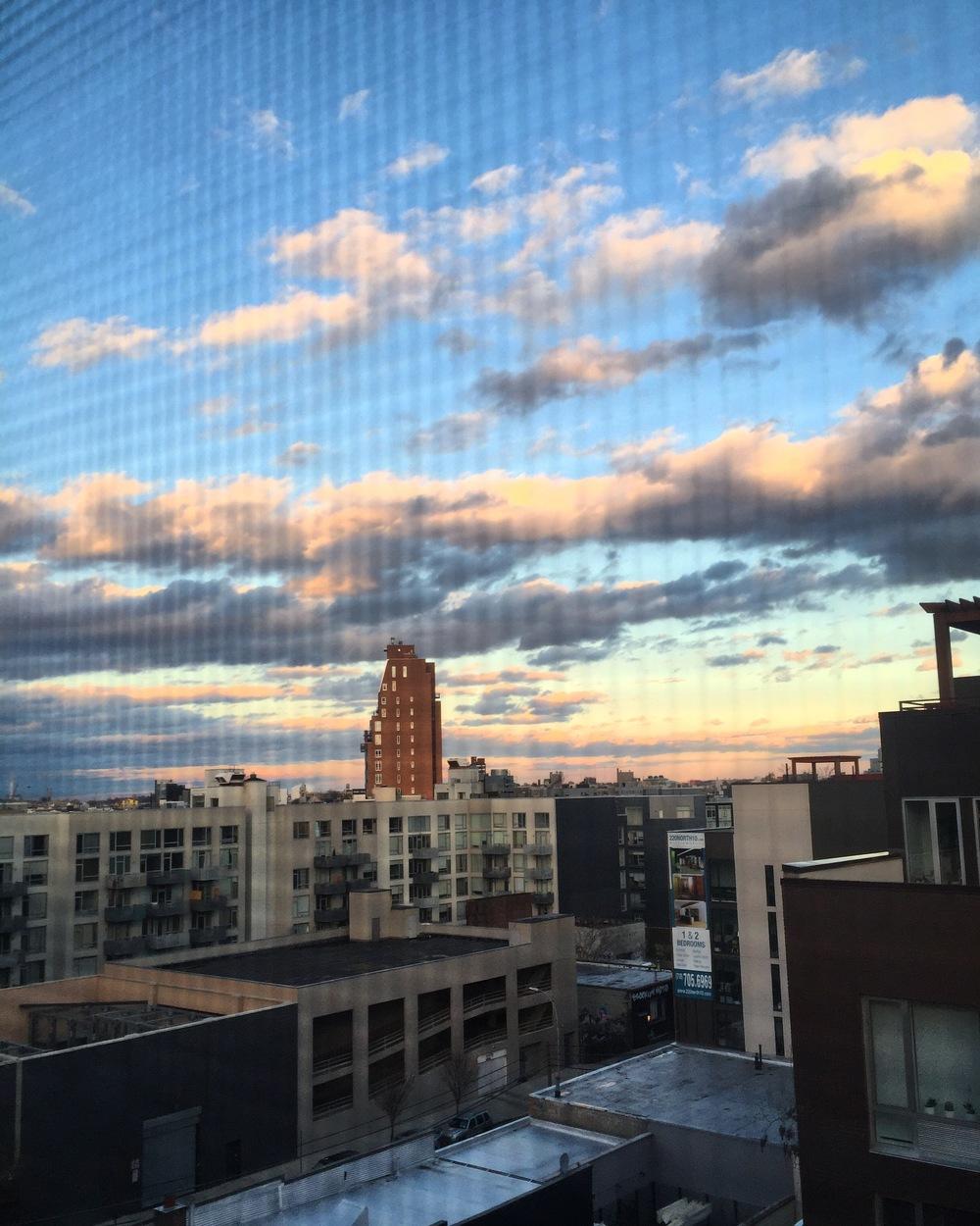 view through my window where I work, overlooking Brooklyln