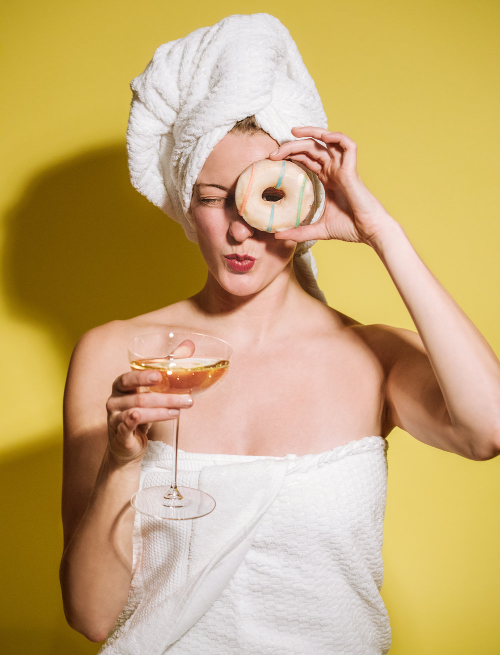 Michelle McSwain Photography Editorial Donut and Wine