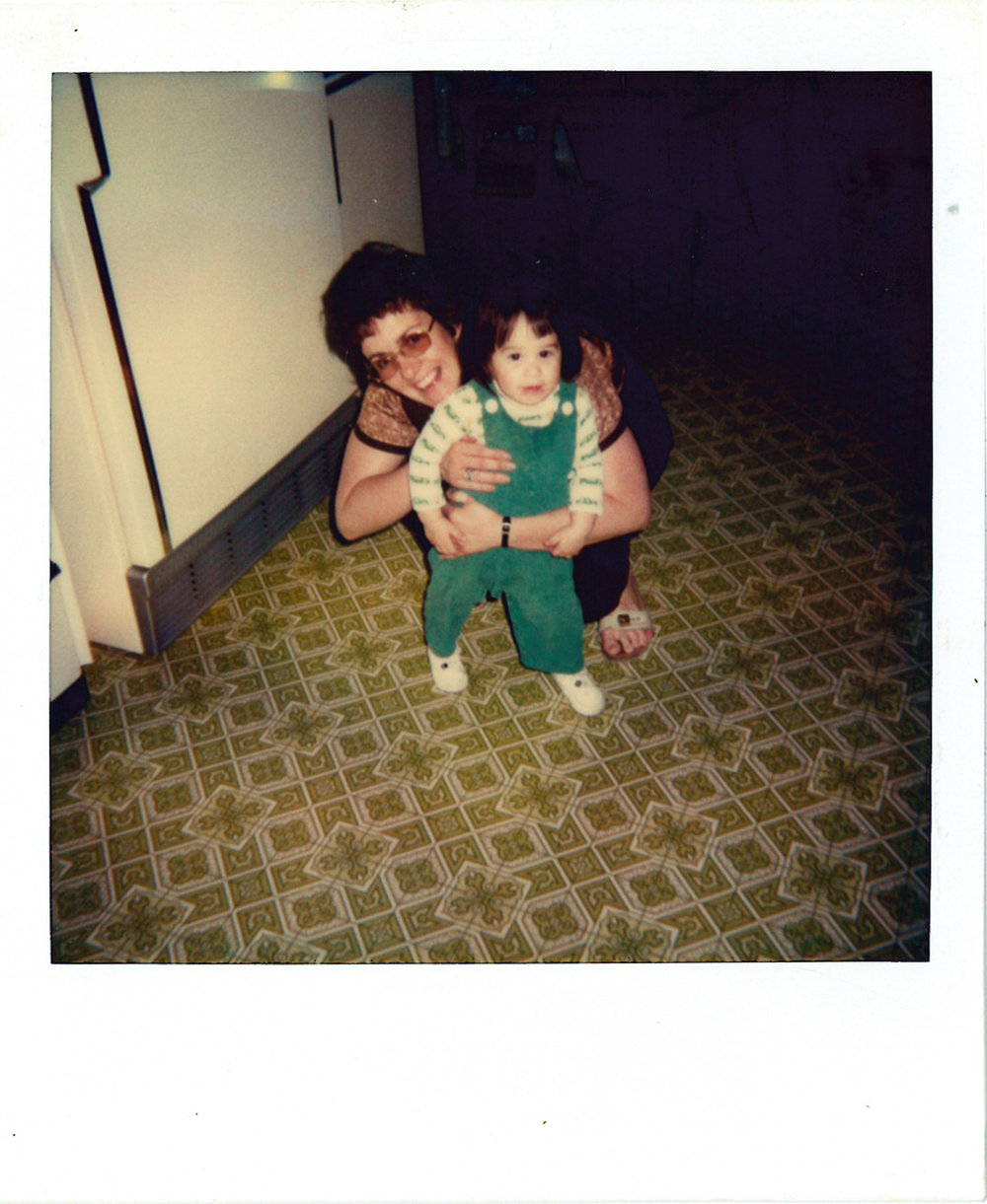 Me and my mom. I miss her so much and I'm so happy I have these pictures to look at. And who doesn't love that green linoleum! ha!
