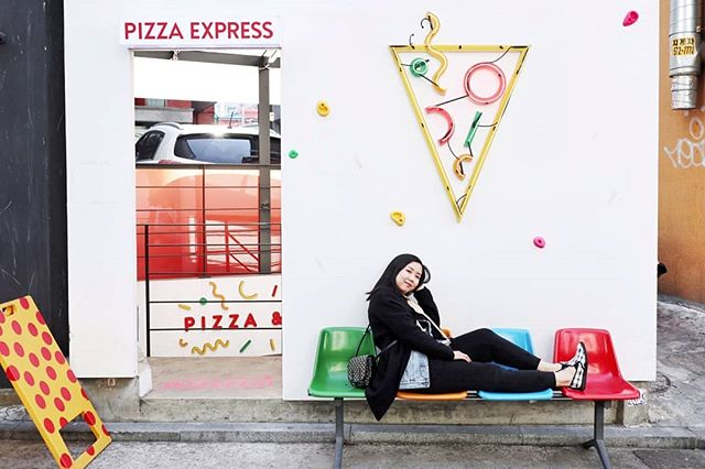 At home anywhere there's pizza. 🇰🇷 • 📸 @beckywithnofilter