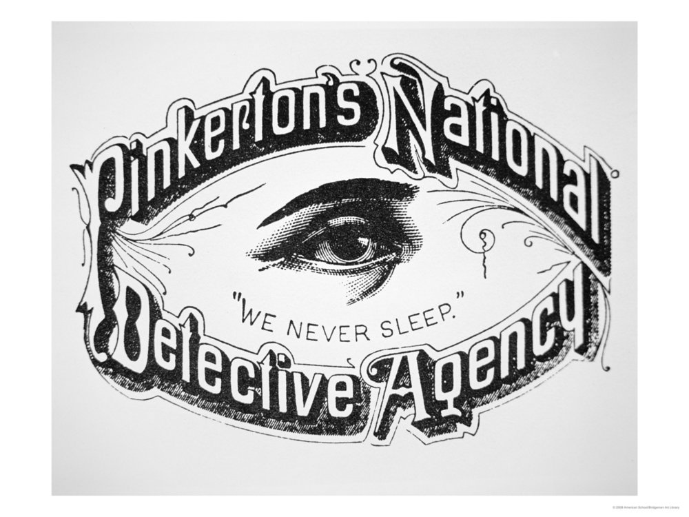 Pinkerton Government Services original logo, source.