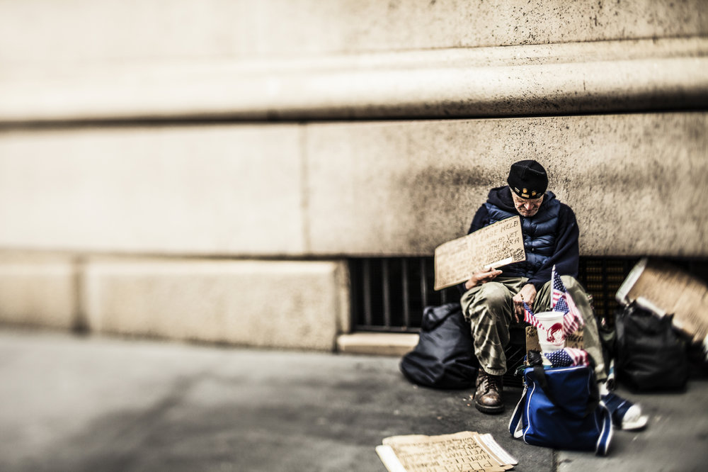A significant number of homeless Californians are veterans.