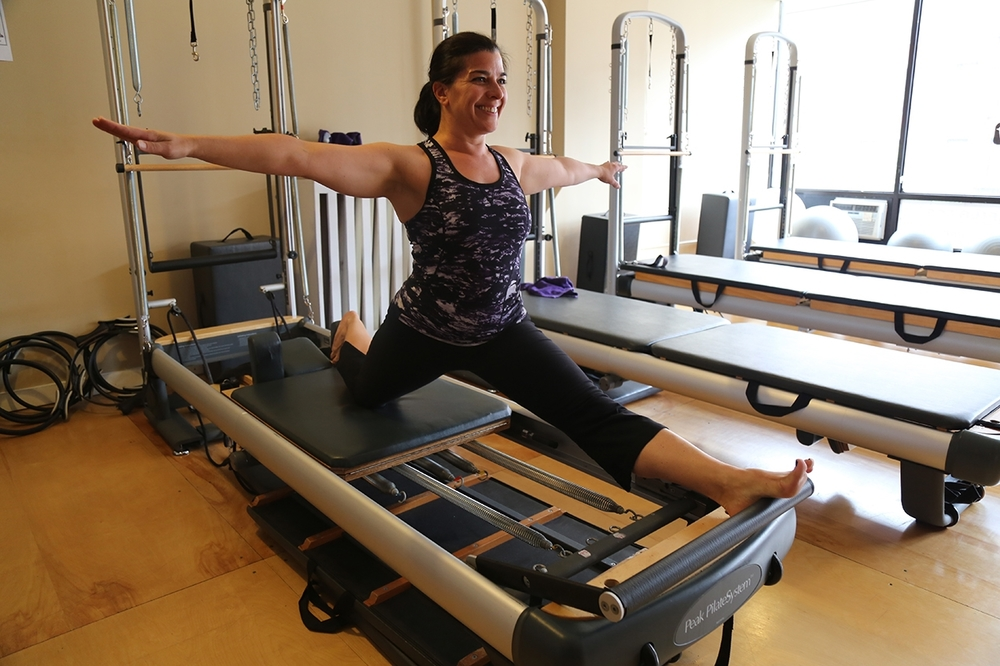 Kim demo-ing split on the Reformer