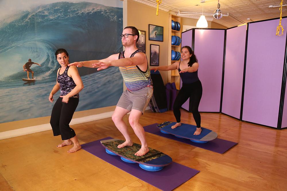 Surfilates: a Pilates & balance-based surf workout