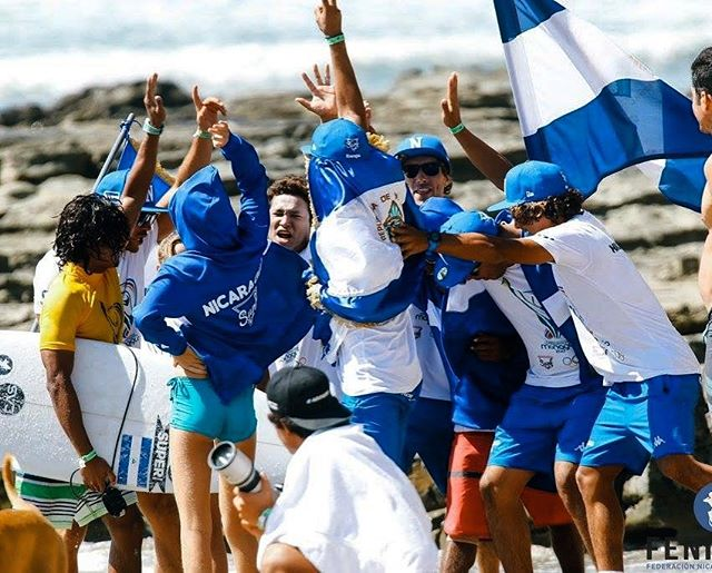 Best of luck to team #Nicaragua taking on the best surfers around during this year's Central American Olympic Games, right at home on #playamaderas. . . . #suertechicos #centroamerica #olympicgames #surfing #goforgold