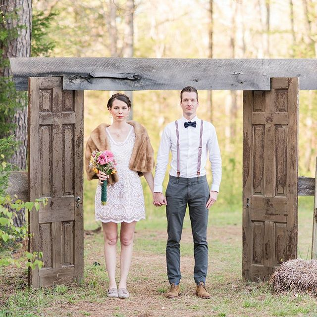 #tbt to this fun Wes Anderson elopement photoshoot at Doyle's Vineyard!  Photo by @galizes