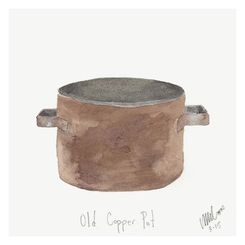 copper pot by monica loos