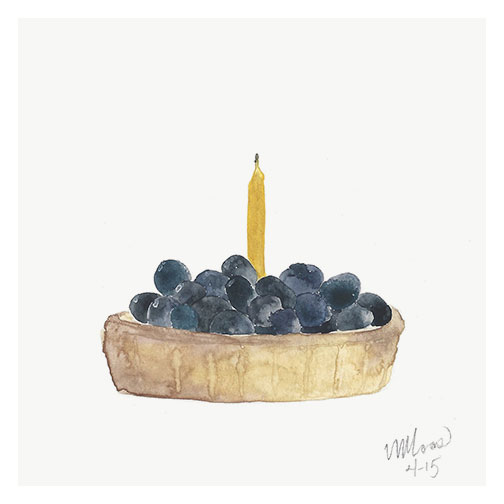 blueberry tart by monica loos