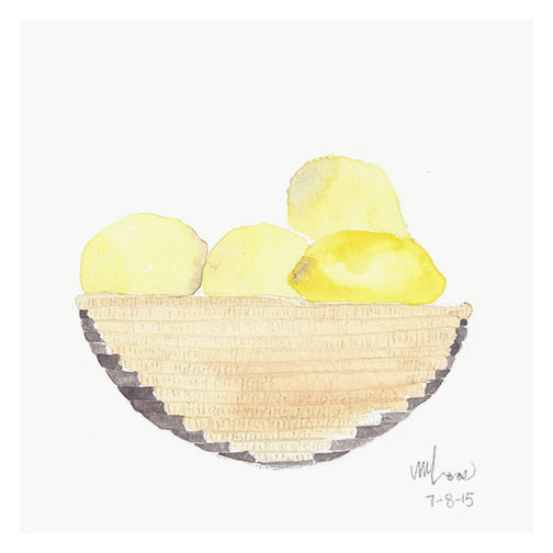 lemons in basket // monica loo