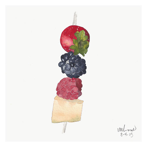 fruit kabob / monica loos