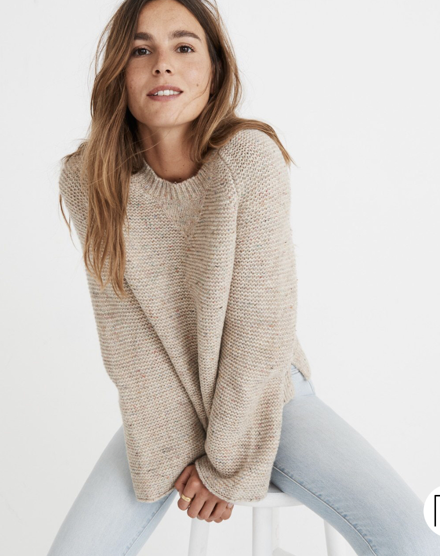 Love this sweater! - If I'm being honest, it's still $67 which is still a bit pricey… see my dupes below!