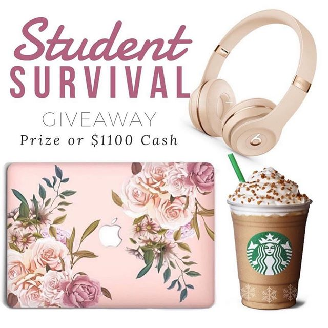 We've put together the ultimate Student Survival kit!! ONE FOLLOWER will receive a MacBook Air, Beats Headphones plus a Starbucks Gift Card or $1100 in CASH!! It takes only a few seconds to enter, just follow ALL the steps below: . . 1.FOLLOW Me, We Check. 2.LIKE this Post. 3.GO to @classy_giveaways for next steps. 4.ANSWER Below for a better chance to win: WHAT IS OR WAS YOUR FAVORITE SUBJECT IN SCHOOL? 👩🏼‍🏫🌎🤼‍♀️🎨🎷🔭 . . CONTEST ENDS ON: 12/13/18 For RULES see official giveaway post @classy_giveaways . Please Note: This contest is in no way sponsored, administered or endorsed by Instagram. Inc or any of the companies in the photo. By entering you are confirming you are at least 18 years of age, release Instagram of responsibility, and agree to Instagram's terms of use!