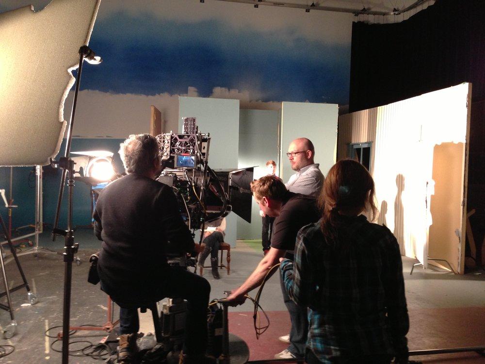 3-D FLIC filming with Ali Kazimi.