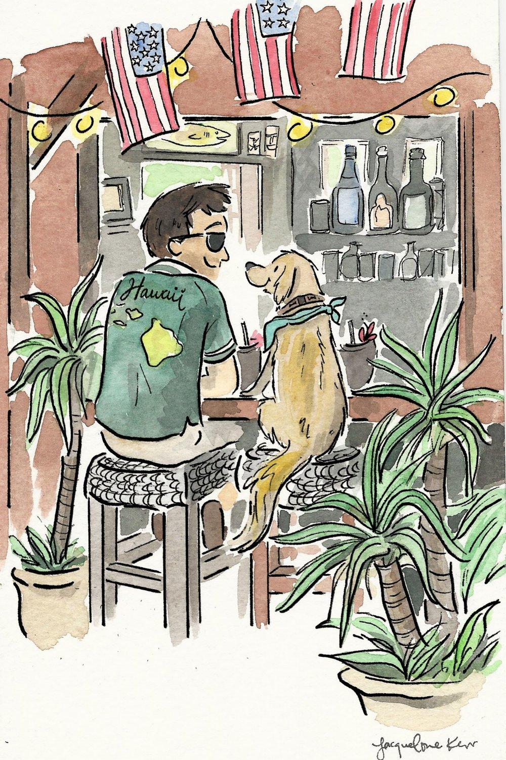 tiki bar and pup.jpg