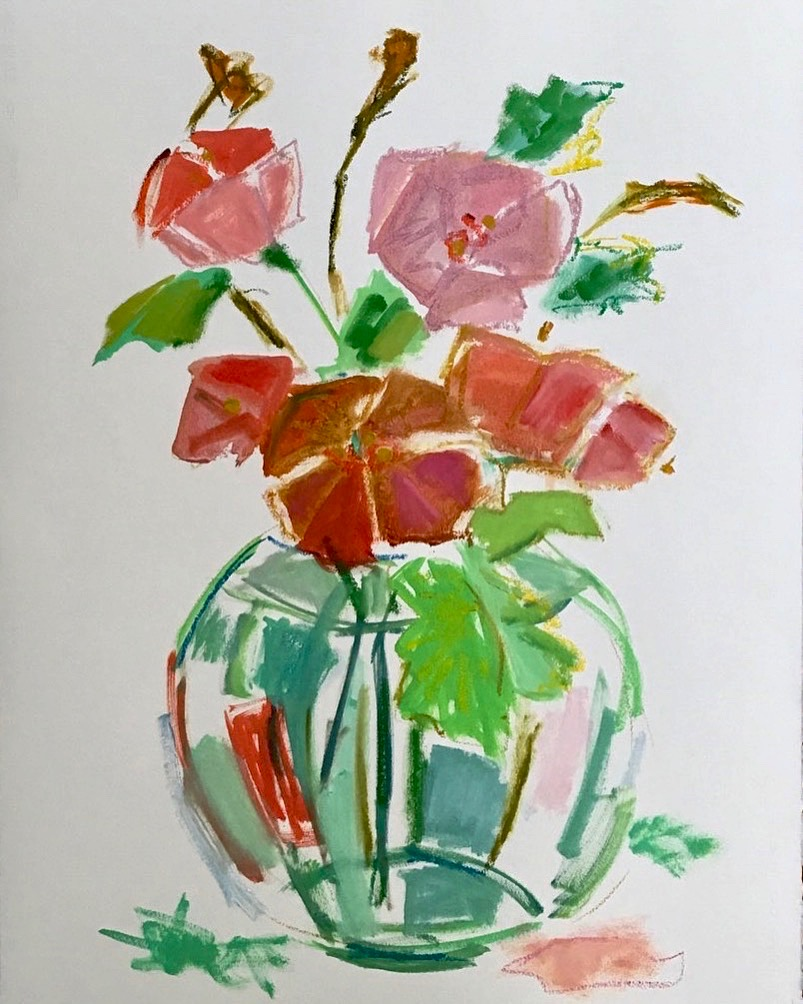 Poppies+in+a+Vase,+30+x+23+inches,+Mixed+Media+on+Oil+Paper,+$1,200.jpg